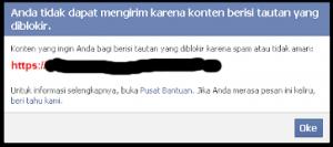 Cara Share Link Blog yang Terblok di Facebook